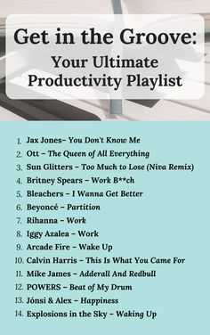 Ever have issues getting in the mood to be productive? This playlist will help you find your groove while motivating you to find your ultimate productivity. Click to read or save and pin for later!