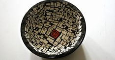 Black and White Mosaic Bowl  - 6 x 3 Inches - FREE SHIPPING Within US - $50.00      We love this bowl. It's dramatic. It's sexy. It's ha...