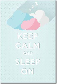 """Plakat do sypialni lub pokoju dziecka """"Keep calm and sleep on"""" - gdy w mieszkaniu nie ma zbyt wiele miejsca, postaw na plakaty na ścianę!"""