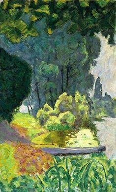Pierre Bonnard, Barque au Bord de la Seine (boat at the edge of the Seine river) Pierre Bonnard, Paul Gauguin, Abstract Landscape, Landscape Paintings, Art Pierre, Paintings I Love, Art For Art Sake, French Artists, Land Scape
