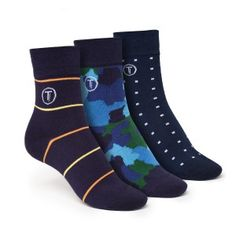 ThokkThokk 3er Pack Mid-Top Socken Camo/Cube/Stripe