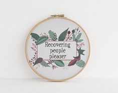 Recovering people pleaser cross stitch xstitch funny Insult pattern pdf