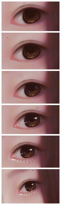 一只眼睛的过程_转手绘吧_百度贴吧