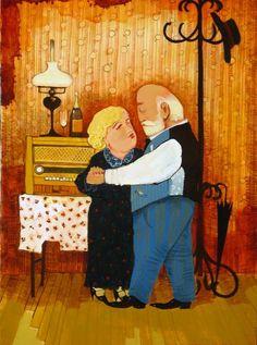 About Art - Talent works, genius creates... : Otar Imerlishvili (Georgian artist)  old tango