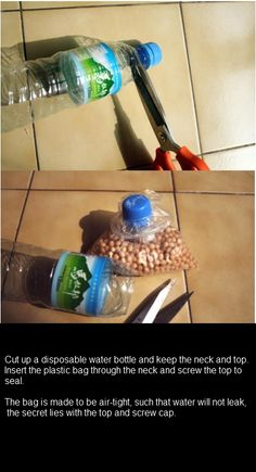 How-To * Making Bottle Bag Containers - Great Idea!.