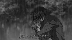anime crying - Stop being kind to me. I'm an idiot...so if you're kind to me, I'll get the wrong idea.