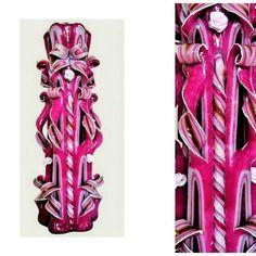 Bougie sculptée (30 cm) ,bougie artisanale,bougie fait main,bougie décorative
