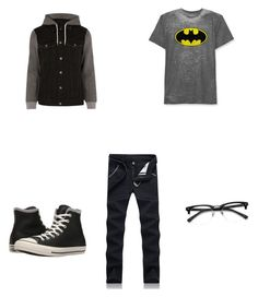 """""""Bat attac"""" by heaven06 on Polyvore featuring Hybrid, River Island, Converse, men's fashion and menswear"""