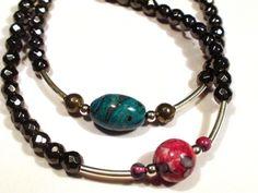 Bracelets de couple toi & moi, Hématite Agate Jaspe Pyrite Argent sterling 925, bracelets pour Elle et Lui : Bijoux pour hommes par olga-bijoux