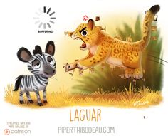 Daily Paint 1625. Laguar by Cryptid-Creations.deviantart.com on @DeviantArt