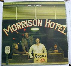 The Doors MORRISON HOTEL 1970 Issue LP Red Labels - Large E - Gatefold