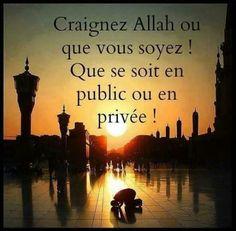 Craigniez Allah où que vous soyez...