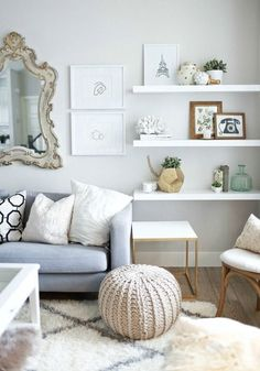 Great for storing books and showcasing unique trinkets, floating shelves can be the answer to a number of home décor dilemmas. Check out this inspiration for how to style them for your space!