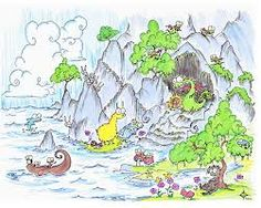 Image result for cave clipart Dragon Cave, Sloth, Dolphins, Bunny, Clip Art, Clouds, Waterfalls, Penguins, Monkey