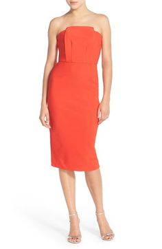 Elliatt Strapless Twill Sheath Dress available at #Nordstrom
