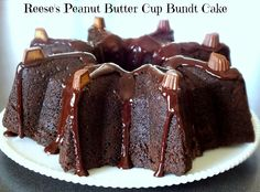 All That's Left Are The Crumbs: Reese's Peanut Butter Cup Bundt Cake #BundtaMonth