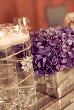 To see more pretty wedding flower ideas: http://www.modwedding.com/2014/11/05/wedding-flower-ideas-heavenly-blooms-just-pretty/ #wedding #weddings #wedding_centerpiece