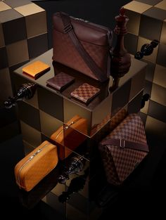 """Though we were skeptical when Jeremiah Myers brought us our first look at Louis Vuitton's """"technical"""" bags for Spring this wider look at the Damier Signature collection (of which the. Louis Vuitton Homme, Louis Vuitton Online, Louis Vuitton Shoes, Louis Vuitton Handbags, Louis Vuitton Damier, Vuitton Bag, Lv Handbags, Luxury Handbags, Louis Vuitton Presents"""