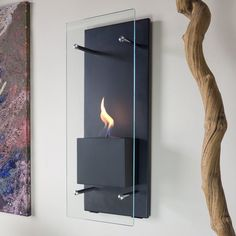 Canello Wall Mounted Bio-Ethanol Fireplace