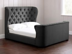 Cadence Upholstered High Footboard Bed
