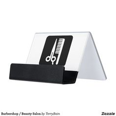 Barbershop / Beauty Salon Desk Business Card Holder