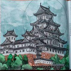 Stevemcdonald Fantasticcities Art Artwork Artbook Colorbook Himeji Himejicastle