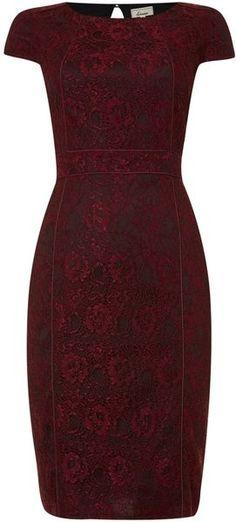 Linea Contrast Lace Dress - Lyst