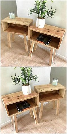 Most Creative Simple DIY Wooden Pallet Furniture Project Ideas wooden pallet end tables The post Most Creative Simple DIY Wooden Pallet Furniture Project Ideas appeared first on Pallet Ideas. Wooden Pallet Projects, Wooden Pallet Furniture, Wood Pallets, Furniture Ideas, Furniture Stores, Pallet Bedroom Furniture, Pallet Wood, Cheap Furniture, Homemade Furniture