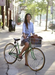cute style and pretty green bike