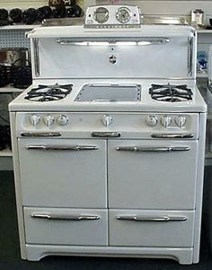 white+double+oven+gas+range | 40 wedgewood double oven double ovens broilers porcelain top 4 burners ...