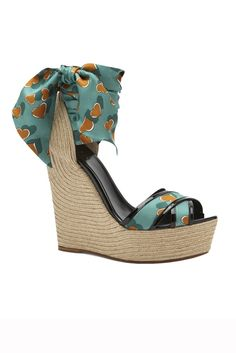 Gucci Resort 2014 Wedges with Heart for a lovely Spring and Summer #Gucci #Shoes