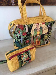 Sac Java et Trousse Zip-Zip Frida Kahlo d'Audrey - patrons Sacôtin