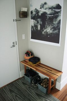 Good idea to repurpose a bench from dining room table