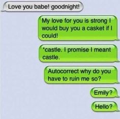 Till death do us part. | 35 Of The Most Concerning Autocorrect Fails Of All Time