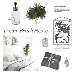 """Dream Beach Bedroom"" by ashley-rebecca ❤ liked on Polyvore featuring interior, interiors, interior design, home, home decor, interior decorating, Avanti, bedroom, Home and dreambeachhouse"