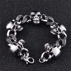 Gothic Badass Biker Bracelet #GothicFashion