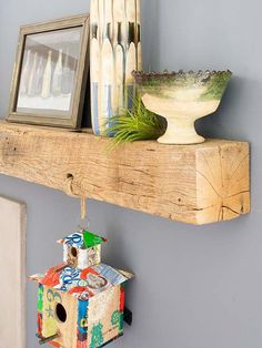 The deco idea of ​​Sunday: A shelf with a beam - Trendy Home Decorations Wood Rack, Woodworking Inspiration, Diy Interior, California Homes, Trendy Home, Home Staging, Home Decor Accessories, Projects To Try, Sweet Home