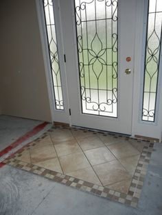 This area will be covered in hardwood so we designed this tile \