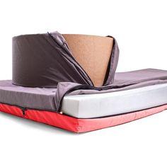 Červená rozkládací postel s křesílkem Paq Bed | Bonami