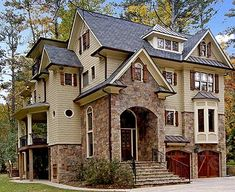 funky exterior; awesome foyer. Too many stairs. Plan 15708GE: Complete with Master Retreat
