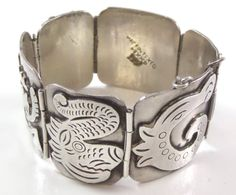 Vintage Taxco 925 Sterling Silver Heavy Bracelet