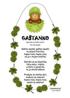 Jesenná pieseň pre deti - Gaštanko Diy And Crafts, Crafts For Kids, Autumn Activities For Kids, Grandparents Day, Holidays And Events, Fall Halloween, Art For Kids, Preschool, Projects To Try