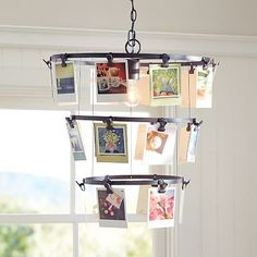 This looks like it could be a fun DIY - Compose-It Chandelier #potterybarnteen