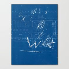 wall fiction 3 Canvas Print by onoffmode Cyanotype, Collage Art, Fiction, Canvas Prints, Artists, Wall, Artwork, Blue, Image