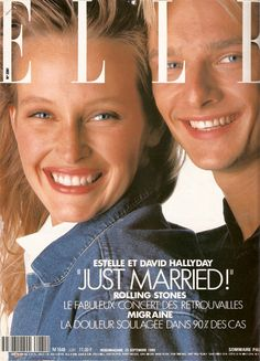 Estelle Lefebure & David Hallyday - Elle France Sept 1989