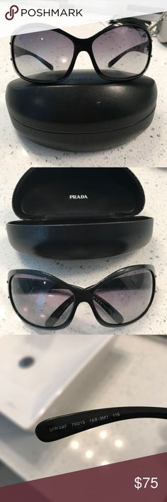 Prada Sunglasses Sunglasses comes with case and cleaner rag. Purchased at Honolulu Prada boutique. Good condition. No scratches. Prada Accessories Sunglasses
