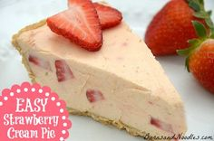 Easy Weight Watchers Strawberry Cream Pie  Ingredients  half of a 12 oz. can of frozen orange-strawberry-banana juice concentrate, thawed  8 oz package fat-free cream cheese  1 package (4½ cup servings) sugar free instant vanilla pudding mix  1½ cups light whipped topping  1 cup strawberries, chopped  One reduced-fat graham cracker pie crust.