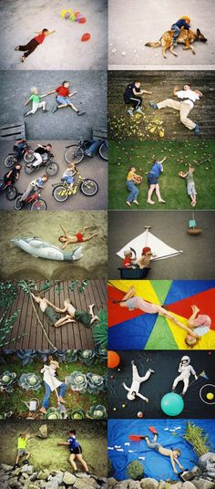 fun photo set ups..........I love these! I always pin them when I see them!