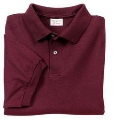 Stedman By Hanes Men`s Jersey Knit Sport Shirt - Maroon Color $11.99