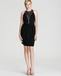 Rebecca Taylor Dress - Ponte & Lace Sleeveless | Bloomingdale's